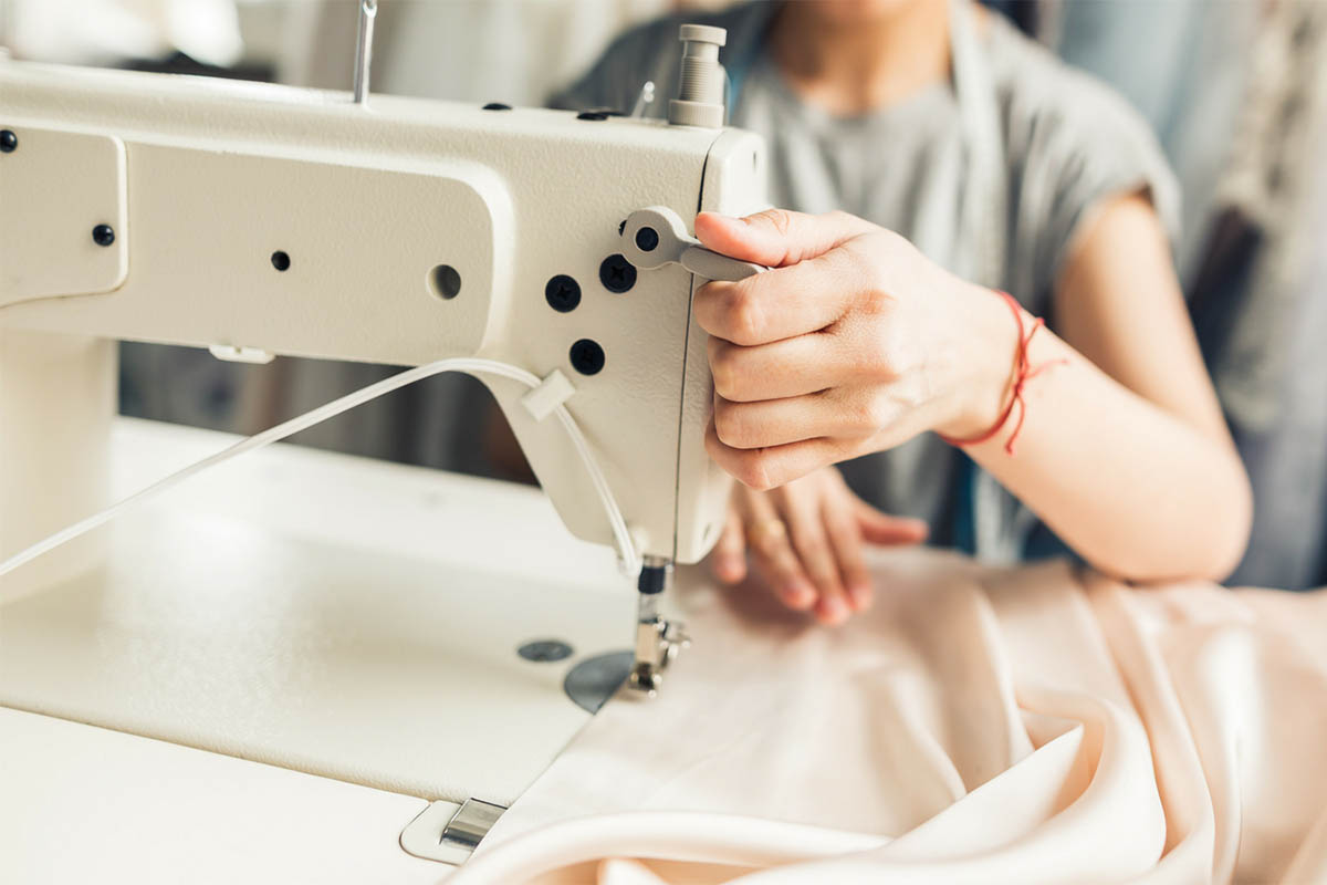 Making a Self-Drafted Satin Dress